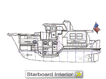 Nordhavn 40 Starboard interior