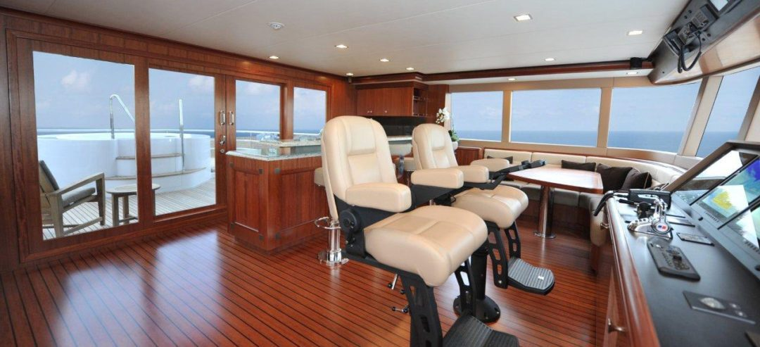 Nordhavn 120 enclosed flybridge